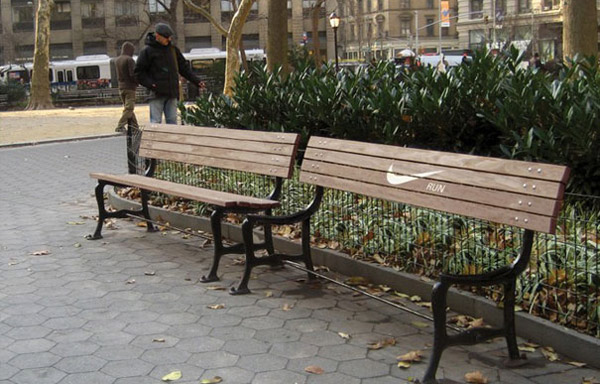 nokia branded bench ad